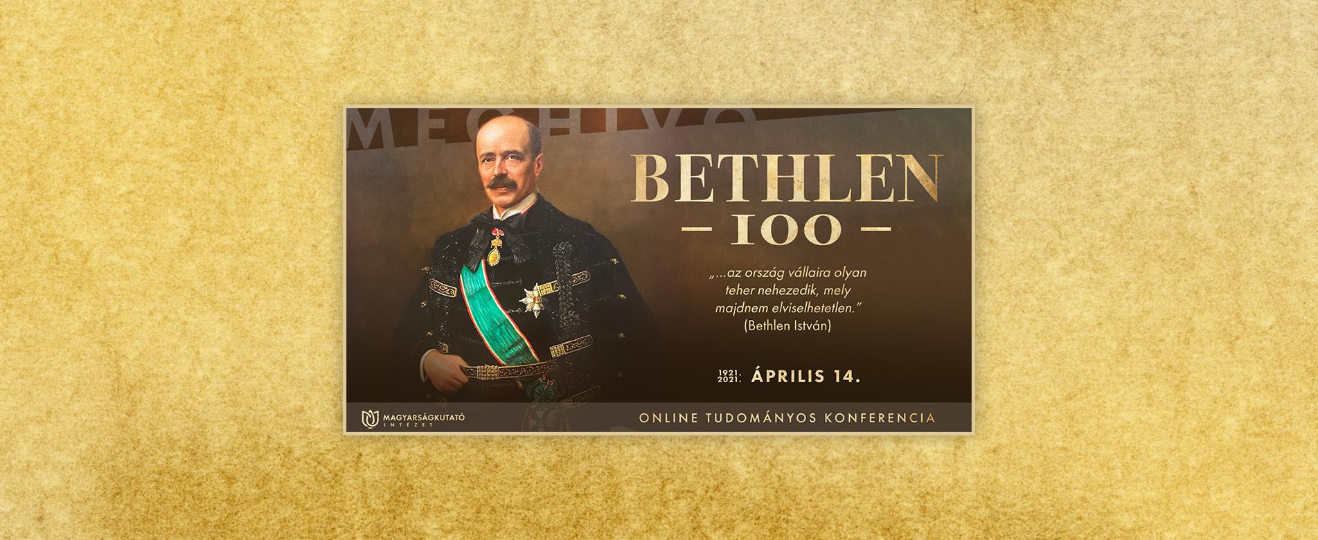Bethlen 100 tudományos konferencia